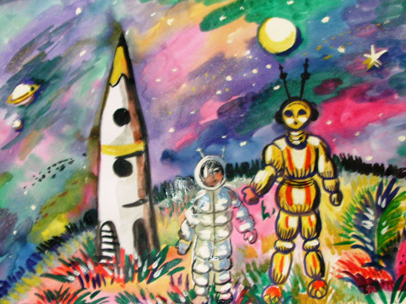тему на космоса рисунки класса 3